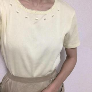エディットフォールル(EDIT.FOR LULU)の古着 vintage チューリップ刺繍リブトップス(カットソー(半袖/袖なし))