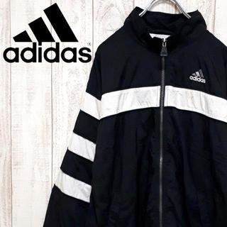 adidas - 【希少デザイン・人気色】アディダス ナイロンジャケット モノトーン 90's