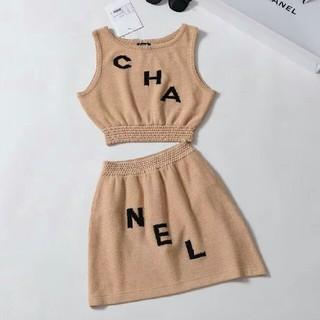 シャネル(CHANEL)の正規品CHANEL シャネルツーピース S セット(ミニワンピース)