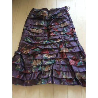 ラルフローレン(Ralph Lauren)のラルフローレン ブラックレーベル フリルスカート(ひざ丈スカート)