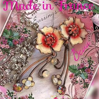 アーカー(AHKAH)の新品 Flower ピアス フランス製 PARIS購入 あまりに華麗美しい逸品 (ピアス)