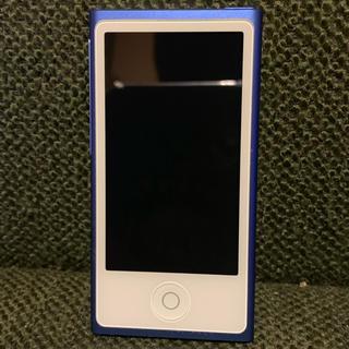 アップル(Apple)のApple iPod nano 16GB 第7世代/ブルー ナノ 美品(ポータブルプレーヤー)