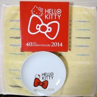 ハローキティ(ハローキティ)のHELLO KITTY  プレート キティちゃん白い丸皿 新品·未使用(食器)