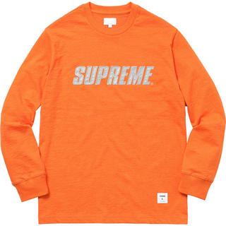 シュプリーム(Supreme)のLサイズ Supreme Metallic L/S Top オレンジ(Tシャツ/カットソー(七分/長袖))