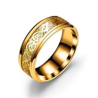 サージカルステンレス指輪リング 龍紋柄