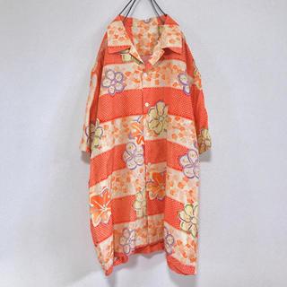 Santa Monica - 80s 90s 古着 ビンテージ 派手 柄シャツ 半袖シャツ レトロ 開襟