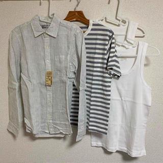 ムジルシリョウヒン(MUJI (無印良品))の無印良品 メンズ シャツ Tシャツ タンクトップ 新品 Mサイズ 4点セット(シャツ)