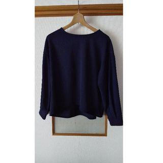 シマムラ(しまむら)のしまむら紺長袖Tシャツ(Tシャツ(長袖/七分))