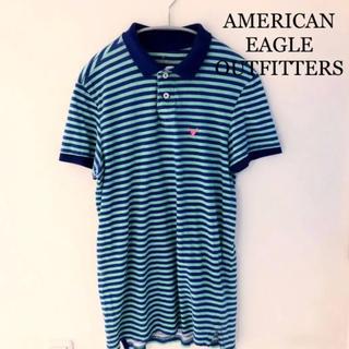 アメリカンイーグル(American Eagle)のアメリカンイーグル ボーダー ポロシャツ(ポロシャツ)