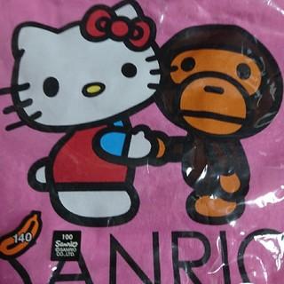 アベイシングエイプ(A BATHING APE)のape×SANRIOキティコラボTシャツ140(Tシャツ/カットソー)