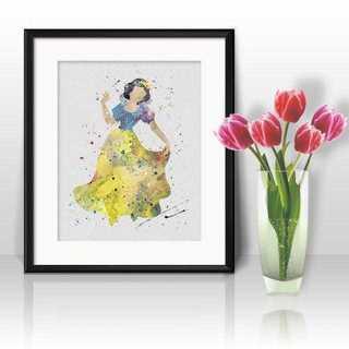 Disney - 日本未発売!白雪姫・アートポスター【額縁つき・送料無料!】