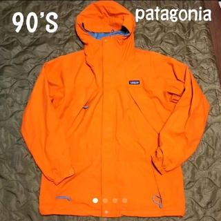 パタゴニア(patagonia)の90'S patagonia ストームジャケット マンゴーイエローおまけ付き(マウンテンパーカー)