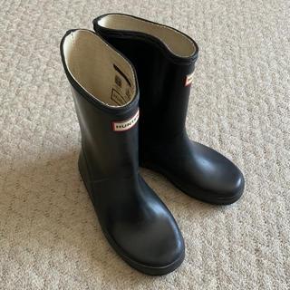 ハンター(HUNTER)のHUNTERレインブーツキッズ19cm黒(長靴/レインシューズ)