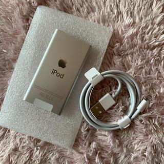 アップル(Apple)のiPod 7世代 新品未使用品 本体・ケーブルのセット(ポータブルプレーヤー)