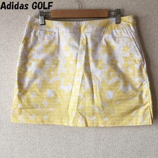 adidas - 【人気】アディダス ゴルフ 総花柄スカート ホワイトxイエロー サイズL