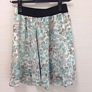 プーラフリーム(pour la frime)のプーラフリーム新品水彩柄スカート(ひざ丈スカート)