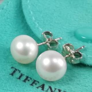 Tiffany & Co. - 未使用 希少 ティファニー 0.9㎝ 大粒 パール ピアス VJ50