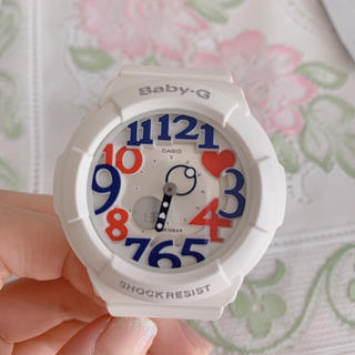 f151e41045 腕時計 · CASIO Baby-G bga-133 ジーショック レッド. ¥6,500. ベビージー(Baby-G)の極美品 BABY-G  ホワイト・トリコロール
