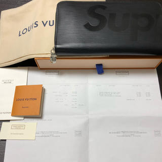 LOUIS VUITTON - 【本物 正規品 美品】LOUIS VUITTON×SUPREME 長財布 エピ