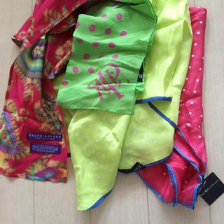 ラルフローレン(Ralph Lauren)の未使用 ラルフローレン パープルレーベル コレクション スカーフ ポケットチーフ(バンダナ/スカーフ)