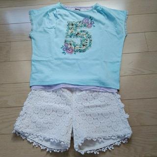 ANNA SUI mini - アナスイミニ レース Tシャツ ショートパンツ 130