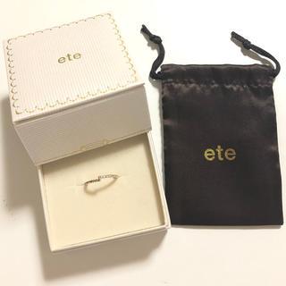 エテ(ete)の【ちゃむ様専用】ete エテ ダイヤ ピンキーリング K10 3号(リング(指輪))