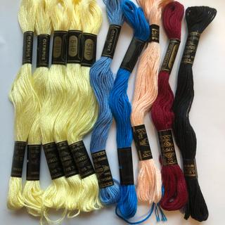 オリンパス(OLYMPUS)のオリンパス刺繍糸 K 合わせて10本(生地/糸)