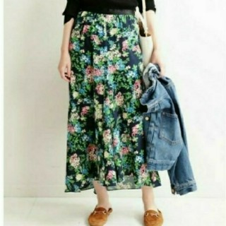 IENA - 美品♡イエナ♡ボタニカルプリントロングスカート 36