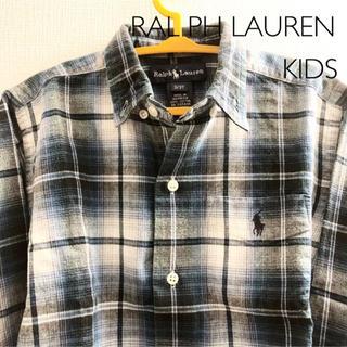 ラルフローレン(Ralph Lauren)の【ラルフローレン】キッズ  チェックシャツ 3T 100(ブラウス)