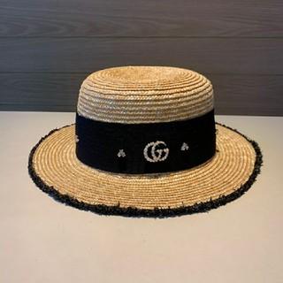 グッチ(Gucci)のGucci 麦わら帽子(麦わら帽子/ストローハット)