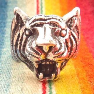 レア★虎タイガー シルバーリング指輪 ジュエリー(リング(指輪))