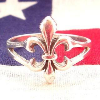 レア★ビンテージ 百合の紋章 925シルバー製リング指輪(リング(指輪))