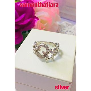 サマンサティアラ(Samantha Tiara)のサマンサティアラ silver ハート&星 ラインストーン リング☆11号(リング(指輪))