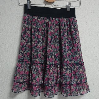グローブ(grove)の花柄スカート(ミニスカート)