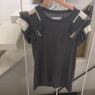 サカイラック(sacai luck)の専用サカイラック フリル リボン カットソー(Tシャツ(半袖/袖なし))