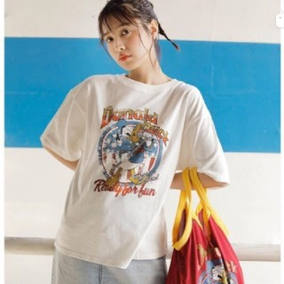 RODEO CROWNS WIDE BOWL - ホワイト(Donald)ROCK Tシャツ