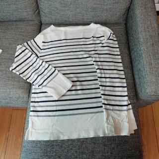 ムジルシリョウヒン(MUJI (無印良品))の無印良品 メンズL ボーダー長袖(Tシャツ/カットソー(七分/長袖))