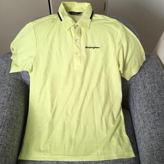 マンシングウェア(Munsingwear)のMunsingwear蛍光イエロー Lサイズポロシャツ(ポロシャツ)