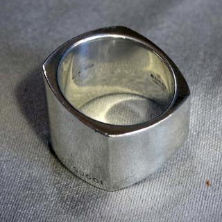 グッチ(Gucci)の【GUCCI】グッチ 幅広 16号 SV925 シルバー リング(リング(指輪))
