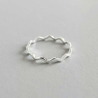 TODAYFUL - インポート silver 925 wave ring