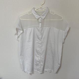 ジーユー(GU)のシースルーシャツ(シャツ/ブラウス(半袖/袖なし))