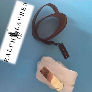 ラルフローレン(Ralph Lauren)のラルフローレンレザーバングル本革新品未使用ブラウン男女兼用ブレスレット(ブレスレット/バングル)