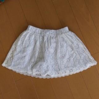 ジーユー(GU)のGU GIRLS ストライプレーススカート130(スカート)