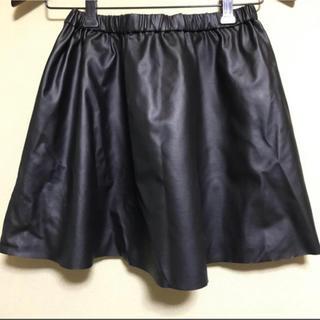 マーキュリーデュオ(MERCURYDUO)のMERCURYDUO 大人気 黒フレアミニスカート(ミニスカート)