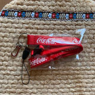 コカコーラ(コカ・コーラ)のコカ.コーラストラップ新品(ノベルティグッズ)