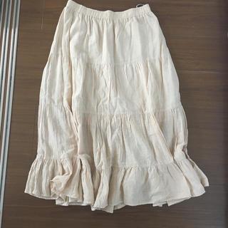 シマムラ(しまむら)のベージュロングスカート美品(ロングスカート)