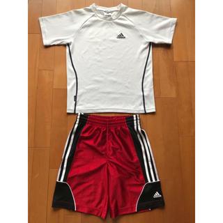 adidas - ★adidas★スポーツウェア上下 Tシャツ,ショートパンツ130cm140cm