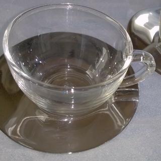 ディーンアンドデルーカ(DEAN & DELUCA)のDEAN&DELUCAカップ&ソーサー2客セット(グラス/カップ)