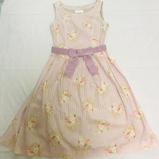 JaneMarple - ジェーンマープル ♡ パンジーストライプジャンパースカート