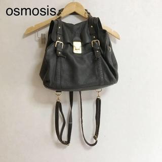 OSMOSIS - osmosis リュック ショルダーバッグ 牛革